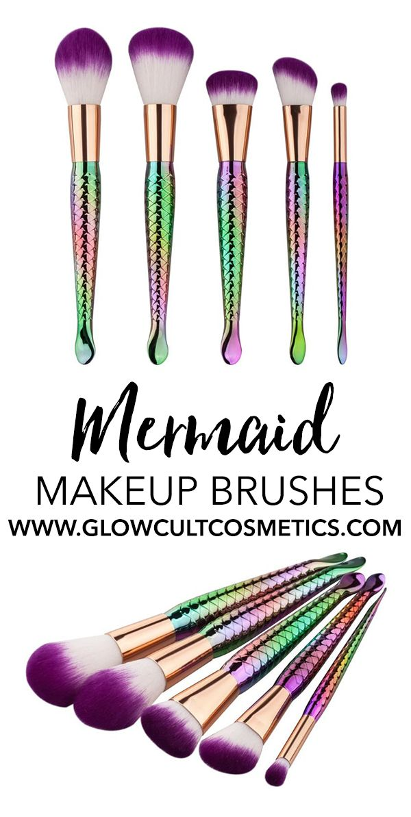 Idk about the mermaid. But these brushes are everything!! Mermaid makeup brushes...