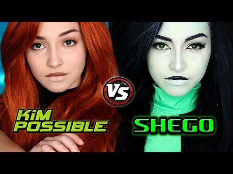 Kim Possible Live-Action | Kim and Shego Makeup Tutorial - YouTube