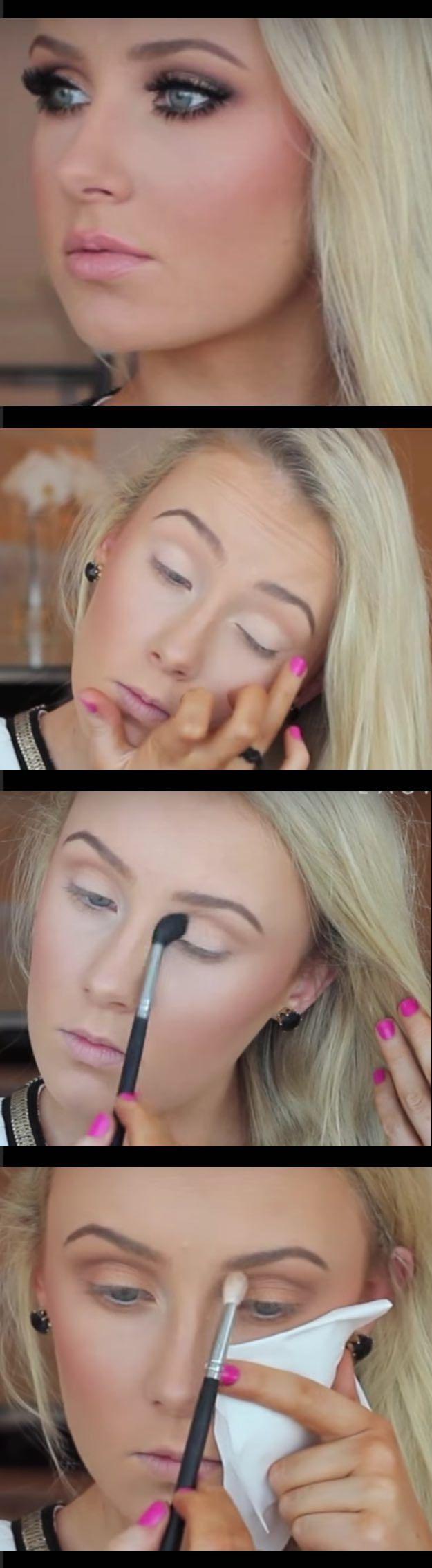 Makeup Tutorials for Blue Eyes -Ultimate Bronze Smokey Eye Tutorial -Easy Step B...