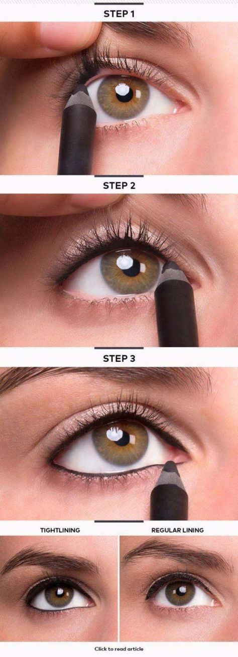 Makeup Tutorials For Small Eyes - Tightline Eye Makeup- Easy Step By Step Guides...