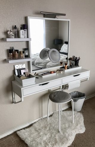 My battle station! : MakeupAddiction  #Makeup #Vanity #IKEA