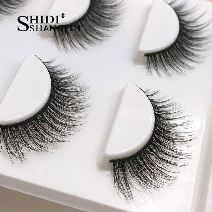New 3 pairs natural false eyelashes fake lashes long makeup 3d mink lashes eyela...