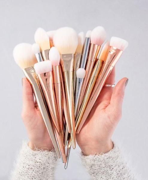 New 7pcs Makeup Cosmetic Brushes Set Powder Foundation Eyeshadow Eyeliner Lip Br...