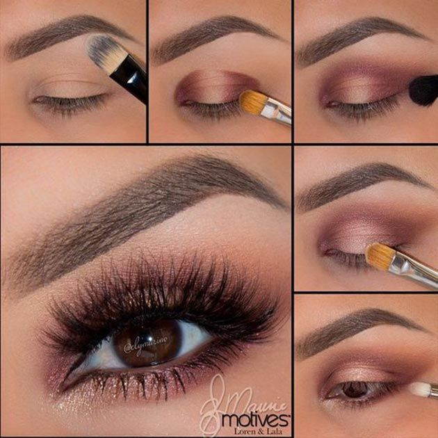 Shimmery eye makeup for fall #makeup #tutorial #womentriangle