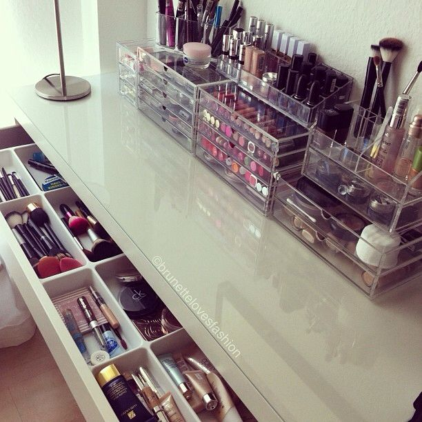 The see through makeup boxes are such a good idea, it just makes everything look...