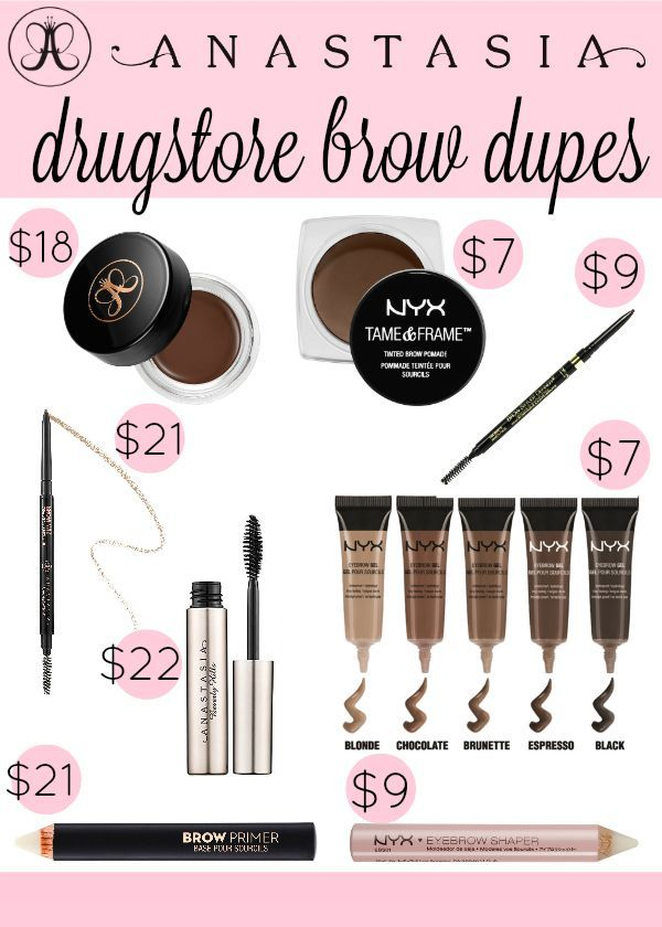 THESE are the best drugstore dupes for Anastasia Beverly Hills eyebrow products!...