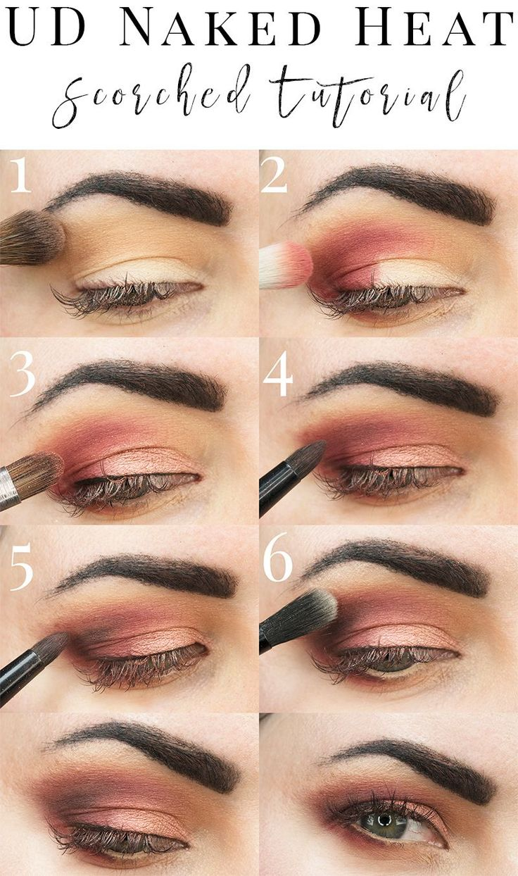 Urban Decay Naked Heat Scorched Tutorial - This terra cotta palette is great for...