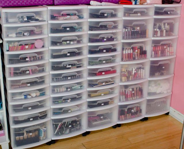 Valentine Kisses: My Makeup Collection & Organization: pics & video!