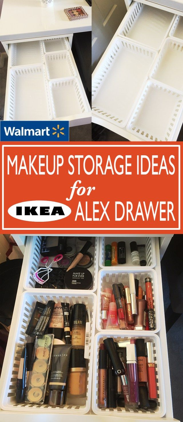 Walmart Makeup Storage Ideas for IKEA Alex Drawers - These kitchen bins from Wal...