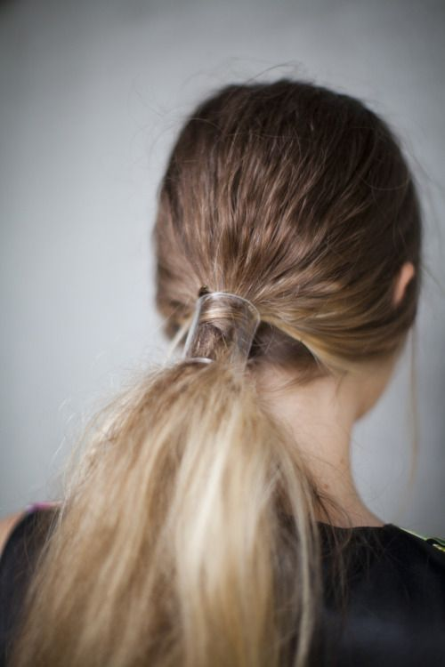 ponytail-plexiglass hair cuff