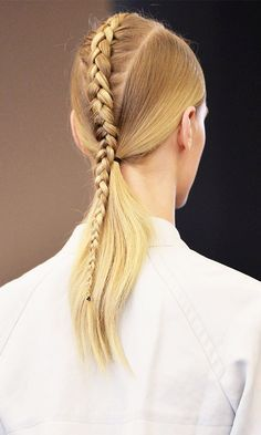 31 Fresh Hairstyle Ideas to Copy from Fashion Month 2017 - French-Braided Crown ...