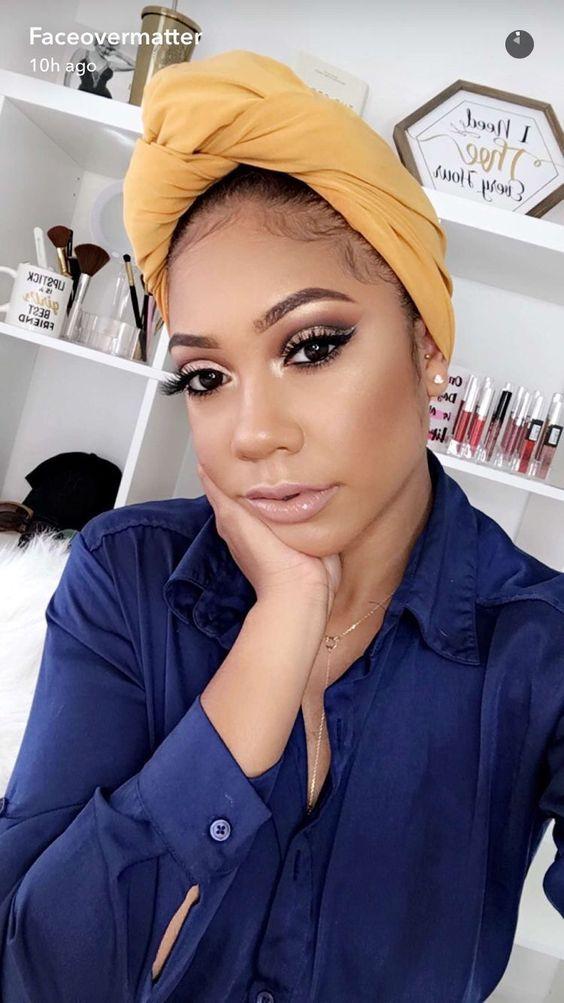 www.shorthaircuts... Black Women Makeup Tips For Dark Skin - Copper Eyes & Nude ...