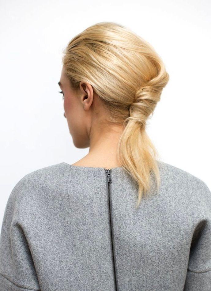 3 Le Fashion Blog Hair Inspiration Blonde 5 Inspiring French Twist Ponytails Pon...
