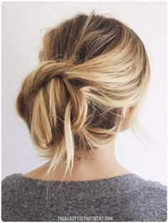 easiest updo ever!