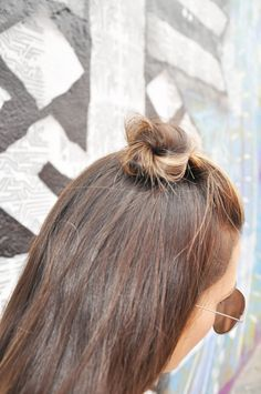 half + top knot Styled By Kasey