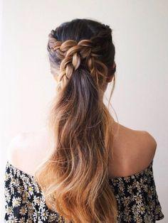 pony crisscross braid
