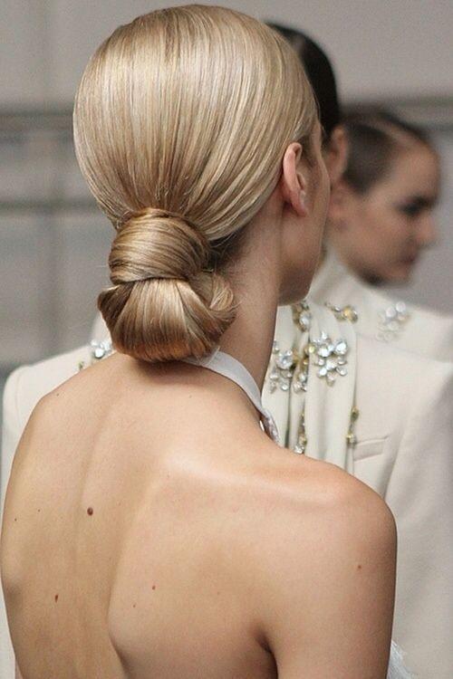 Sleek bun   Wedding hair