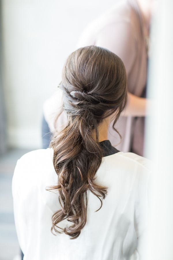 Twisted low ponytail