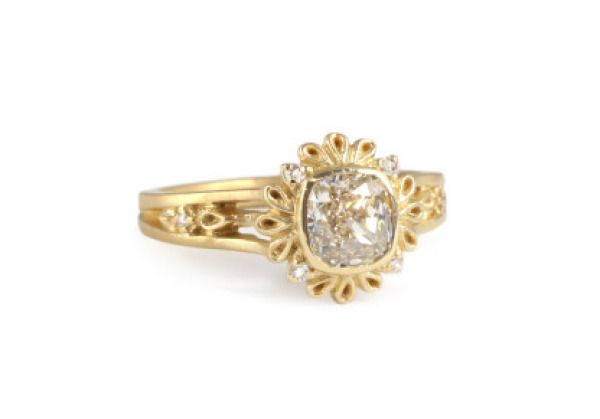 A plume cushion cut from Megan Thorne is perfect for the artsy bride to be: www....