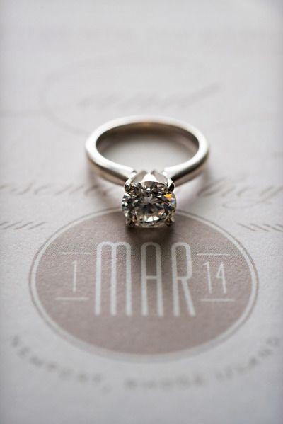A single diamond: www.stylemepretty... | Photography: Snap! - snapri.com/