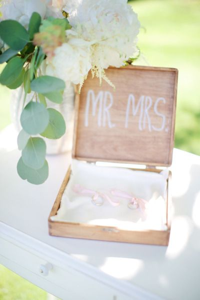 Adorable way to display wedding rings: www.stylemepretty... | Photography: Steph...