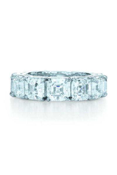 Asscher cut diamond band: www.stylemepretty...