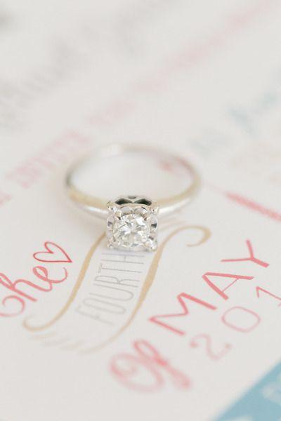 Beautiful engagement ring: www.stylemepretty... | Photography: Amalie Orrange - ...