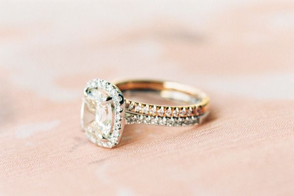 Beautiful square cut engagement ring: www.stylemepretty...   Photography: Sara H...