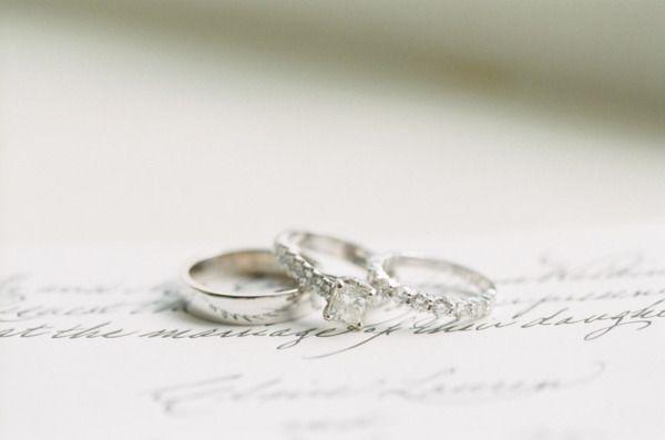 Beautiful wedding rings: www.stylemepretty... | Photography: Lauren Kinsey - lau...