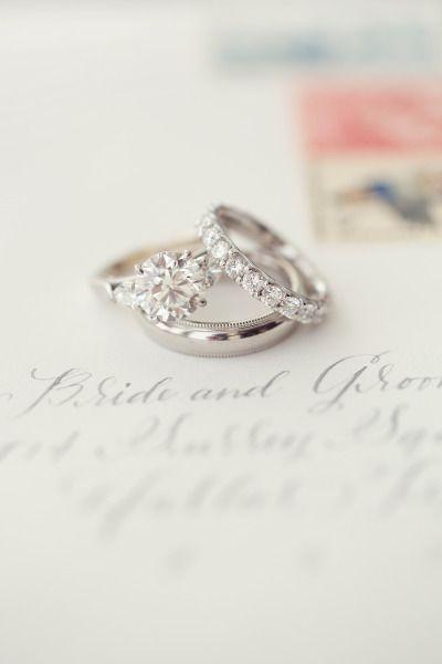 Diamond engagement ring: www.stylemepretty... | Photography: Sarah Kate - sarahk...