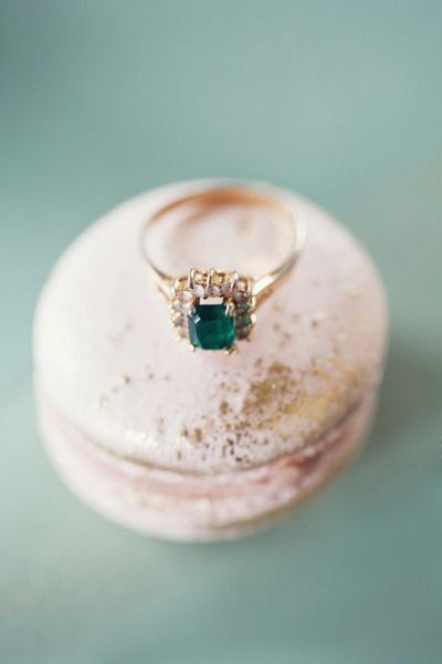 Emerald engagement ring: www.stylemepretty... | Photography: Peaches & Mint - pe...