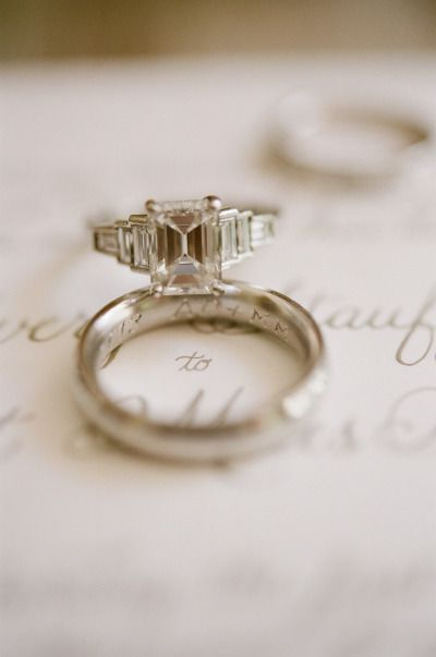 Emerald cut ring: www.stylemepretty...   Photography: Jen Fariello - jenfariello...