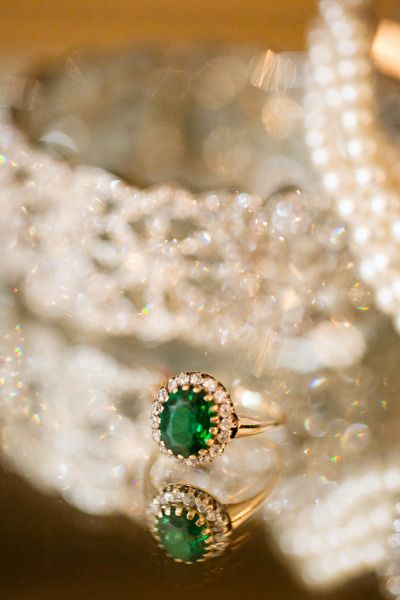 Emerald engagement ring: www.stylemepretty... | Photography: Heather Roth - www....