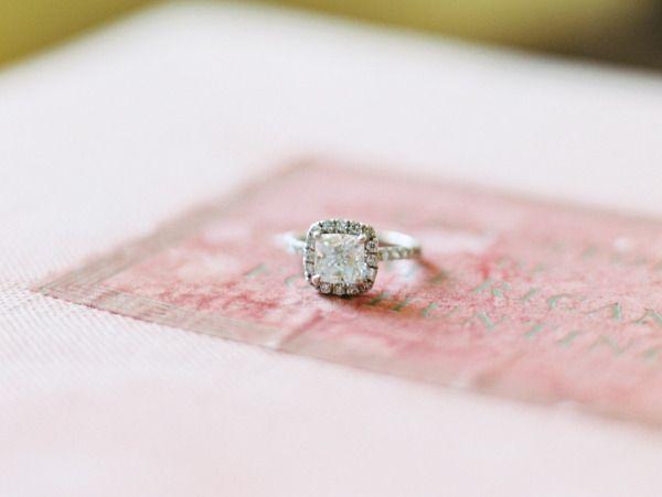 Glam engagement ring: www.stylemepretty...   Photography: Abby Jiu - www.abbyjiu...