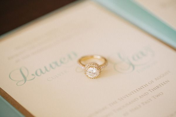 Gold engagement ring: www.stylemepretty... | Photography: Jenelle Kappe - jenell...
