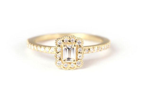 Gold Megan Throne engagement ring: www.stylemepretty...