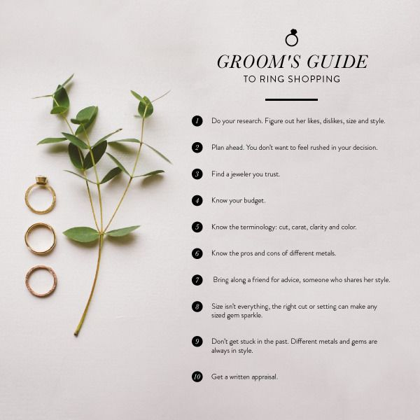 Groom's Guide to Ring Shopping: www.stylemepretty...