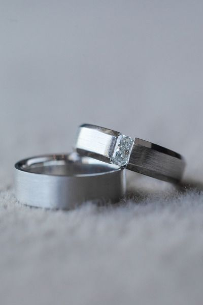Handsome wedding bands: www.stylemepretty... | Photography: Casey Henderickson -...