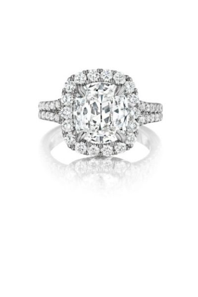 Henri Daussi signature collection engagement ring: www.stylemepretty...