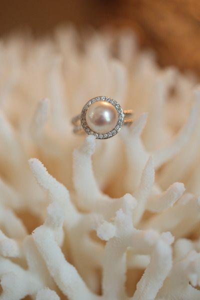 Pearl and diamond ring: www.stylemepretty... | Photography: Alison Conklin - ali...