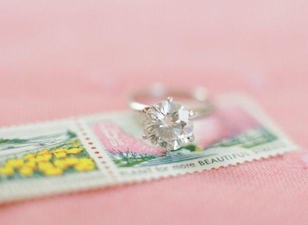 Pretty engagement ring: www.stylemepretty...   Photography: Abby Jiu - www.abbyj...