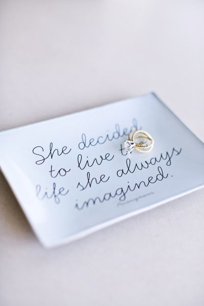 Rings/DishBeautiful engagement ring: www.stylemepretty... | Photography: Maria d...