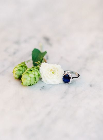 Sapphire and diamonds: www.stylemepretty... | Photography: O'Malley - www.omalle...