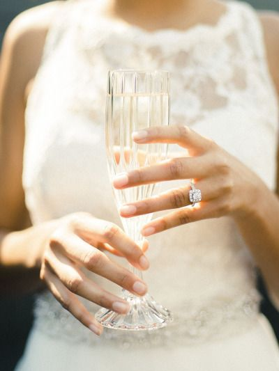 Square cut engagement ring: www.stylemepretty... | Photography: Krista A Jones -...