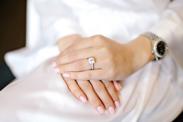 Square cut engagement ring: www.stylemepretty...   Photography: Mimi Nguyen - mi...