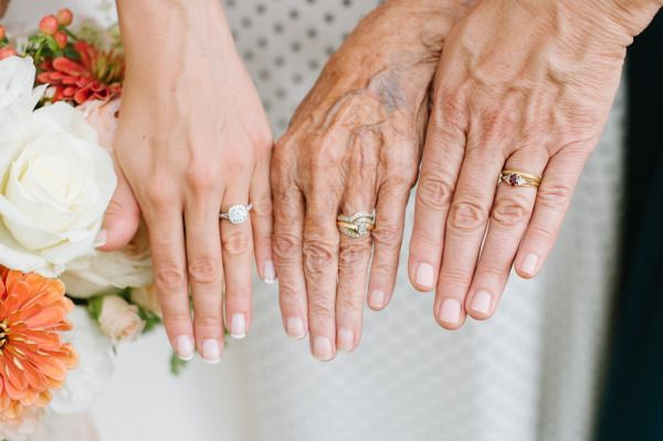 Three generations of engagement rings: www.stylemepretty... | Photography: Natal...