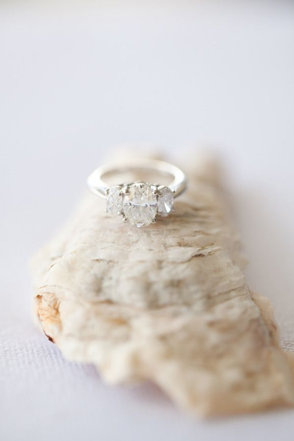 Three stone beauty: www.stylemepretty...
