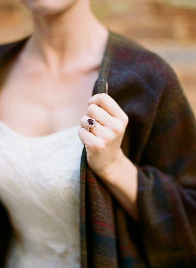 Vintage engagement ring: www.stylemepretty... | Photography: Melissa Schollaert ...
