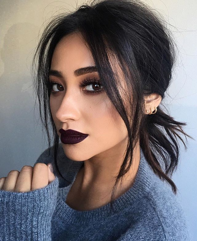 Makeup Ideas 2017 2018 13 Celebrities Wearing Winters Dark - Grunge-makeup-ideas