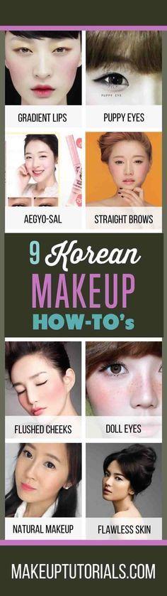 9 Korean Makeup Tutorials | How To Do Korean Makeup & Awesome Korean Makeup Prod...